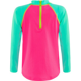 Zoggs Sea Unicorn Sun LS Zip Top Flickor pink